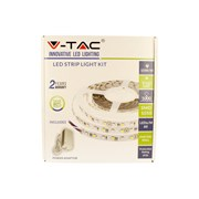 V-tac Ip20 Led Warm White Strip Light Kit 5m (VTWWSTRIPKIT-IP20)
